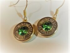 Handcrafted Remington or Winchester shotgun shell jewelry items, dangle earrings