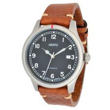 Aristo unisex reloj de pulsera mujer Automatic Vintage 3h190 cuero Swiss