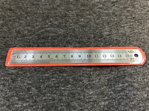 15CM 6 INCH Dawn STAINLESS STEEL METAL RULER RULE PRECISION DOUBLE SIDED OZ