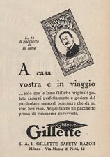 Z3535 Lame GILLETTE Blade - Pubblicità d'epoca - 1929 vintage advertising