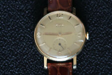 AVIA MENS DRESS WATCH 15 JEWEL IN CHAMPAGNE & GOLD SUB SECOND DIAL BROWN STRAP