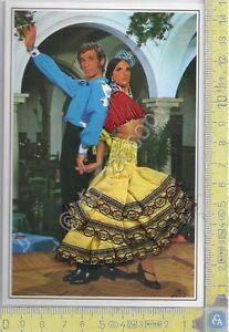 Cartolina  Ballerina Flamenco 2 - ricamata con busta Hotel Praga - Brodee