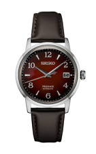 Seiko PRESAGE Cocktail Time Red Dial Leather Strap Men's Watch SRPE41