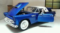 G LGB 1:24 Scale 1956 Ford Thunderbird Convertible Diecast Model Car 73312 blue