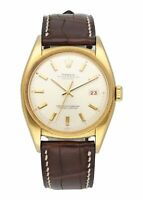 Rolex Datejust Ovettone 6105 Yellow Gold Mens Watch