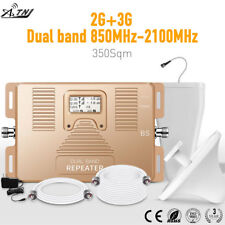 Dual Band 850/2100MHz Mobile Signal Booster 2G 3G Signal Repeater Amplifier