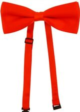 Red Bow Tie Silky Satin Pre Tied Adjustable Formal Dicky Fancy Dress