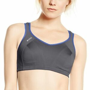 Shock Absorber Sports Bra 40E Dark Grey/Blue Nights Active Gym  Womens Bnwot