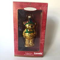 2000 Crayola Backpack Bear Hallmark Keepsake Ornament Blown Glass Christmas