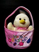 Easter basket  soft cute stuffed Animal Hobby lobby EUC rare ducky baby Chick