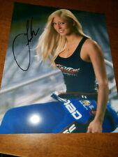 NHRA TOPFUEL DRAGSTER LEAH PRITCHETT AUTOGRAPHED 8X10  PHOTO