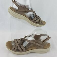 Hotter Size 7.5 Sandals Tan Leather Maisie EU 38.5 Woven 5.5 UK England