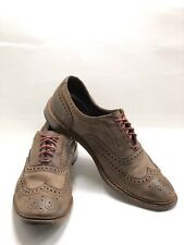 ALLEN EDMONDS 'Neumok' Dark Brown Leather Wingtip Oxford Dress Shoes US 11