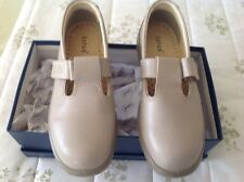 Lotus Beige Leather T-bar Shoes - New in Box