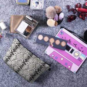 Women Makeup Cosmetic Bag Case Pouch Zip Carry Toiletry Organizer Waterproof MA