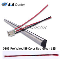 10pcs 1206 3216 Red Green Light SMD Pre-Wired LED Diodes Soldered 20cm Length