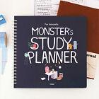 Indigo - For 6 Months Monster's Study Planner semester planner diary planner