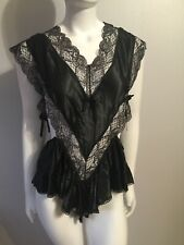 VTG NWT Deadstock  Buffums Nicole Sexy Black Lace Teddy Lingerie Size Medium