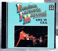PREMIATA FORNERIA MARCONI P.F.M. LIVE IN U.S.A. PFM CD 1988 BIEM MADE IN GERMANY