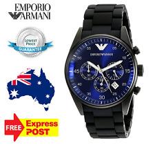 Emporio Armani AR5921 Men's Black/ Blue Dial Quartz Chronograph Wristwatch