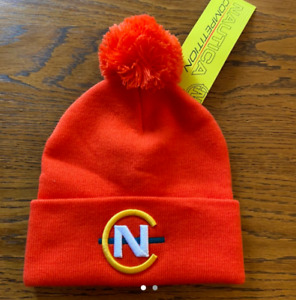 Nautica Competition Orange Bobble Hat - Brand New With Tags