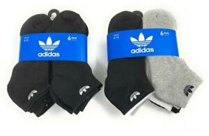 adidas Originals Men's Trefoil Low Cut 6 Pairs 6-Pack Socks Athletic Black 6-12