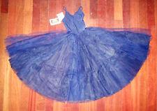 NWT Main Street Ballet Dance Romantic dress Navy ch/ladies Tulle Chiffon Skirt