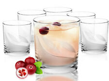 220ml Set of 6 /112/ Tumblers Short Wide Frosted Leaves Decor Glasses Nice Shape