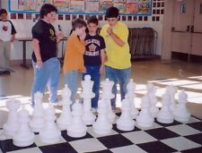 """MegaChess Giant Plastic Chess Set with 25"""" King with a Nylon Chessboard"""