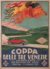 COPPA DELLE TRE VENEZIE, 1923 Vintage Italian Reproduction CANVAS PRINT 24x32 in