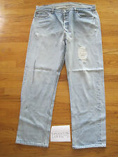 destroyed levi feather 501 usa repair grunge jean tag 42x34 meas 39x30.5 12104F