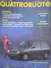 Quattroruote 353 1985 Anteprima:Alfa75,Uno Turbo.Lancia Thema 2000,Opel Kadett