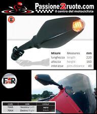 Coppia specchi frecce led Far 7064 7065 moto Yamaha Yzf R125 R1 R6 Fzr Fazer