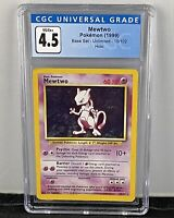 Mewtwo Holo - CGC 4.5 - Pokemon Base Set Unlimited 10/102