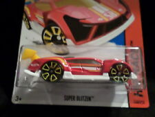 HW HOT WHEELS 2015 HW RACE #148/250 SUPER BLITZEN HOTWHEELS RED/WHITE VHTF