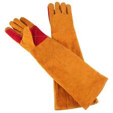 "14/""//350mm Yellow Cow Split Leather Welding Gloves,Welding Gauntlets-14116"