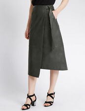 M&S Patternless Calf Length Casual Skirts for Women