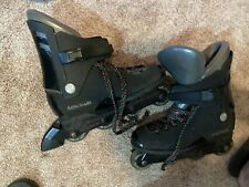 Old Used  Rollerblade TRS Lightning Black Inline Skates Size 9.5-43.5 US