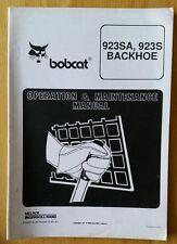 Bobcat 923SA 923S Terna operatori manuale