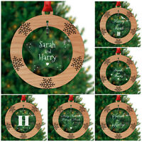 Personalised ANY NAME Christmas Decorations Couples Wife Girlfriend Girls Boys