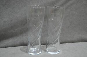 Pair Of (2) J2O Embossed Highball Tumbler Swirl Glass 12oz / 350ml Brand New