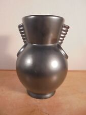CÉRAMIQUE VINTAGE 50 Vase moderniste St-Clément Blanche Letalle DLG Vallauris