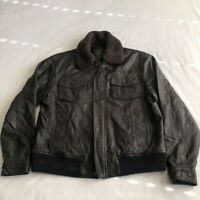 Roundtree & Yorke Womens Jacket Black Lined Ribbed Pockets Zipper Lamb Skin M