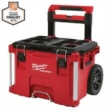 Milwaukee PACKOUT Portable Tool Box 22 in. Lockable Water Resistant Wheels