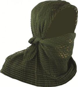 Highlander Scrim Net Scarf Lighweight Outdoor Hiking Face Veil Tan Camo Olive