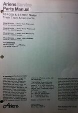 Ariens Team-Trac Implements Parts Manual 12pg Rotary Brush Mower Tiller 1980