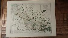 Very Nice, Antique Hand Colored map of Flanders, France - P. Tardieu, c.1790