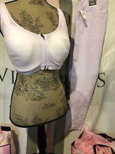 Victoria Secret VSX Knockout 36DDD Front Close Sport Bra, Lg Tight Set Lavender!