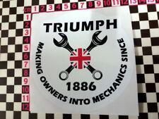 Round Triumph Mechanic Sticker - Spitfire GT6 Herald TR7 TR6 TR5 Stag Dolomite