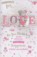 LARGE HAPPY BIRTHDAY SPECIAL MUM MOTHER SPECIAL CARD 8 PAGE FULL COLOUR INSERT